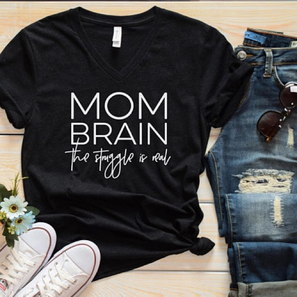 7b84531e Plum Creek Boutique Tops | Funny Mom Shirts With Sayings Mom Brain ...